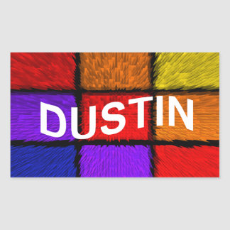 DUSTIN RECTANGULAR STICKER