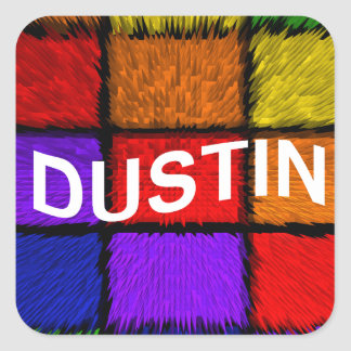 DUSTIN SQUARE STICKER