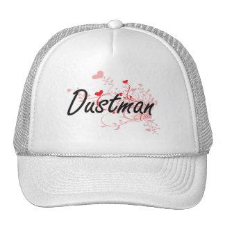 Dustman Artistic Job Design with Hearts Cap