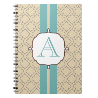 Dusty Aqua Monogrammed Notebook
