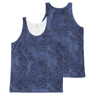 Dusty Blue Painterly Abstract All Over T-Shirt All-Over Print Tank Top