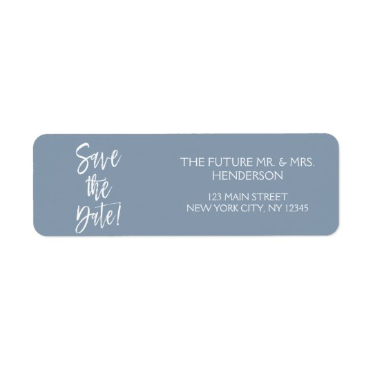 Dusty Blue Save the Date Return Address Return Address Label