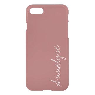 Dusty Cedar Warm Rose Pink Solid Color Custom iPhone 7 Case