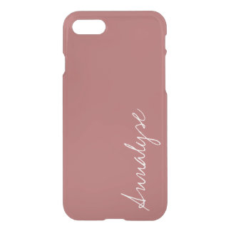 Dusty Cedar Warm Rose Pink Solid Color Custom iPhone 8/7 Case