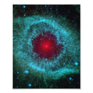 Dusty Eye of Helix Nebula NGC 7293 Photo Print
