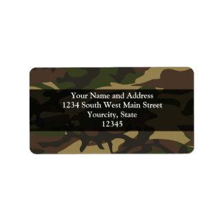 Dusty Green Camo Address Label