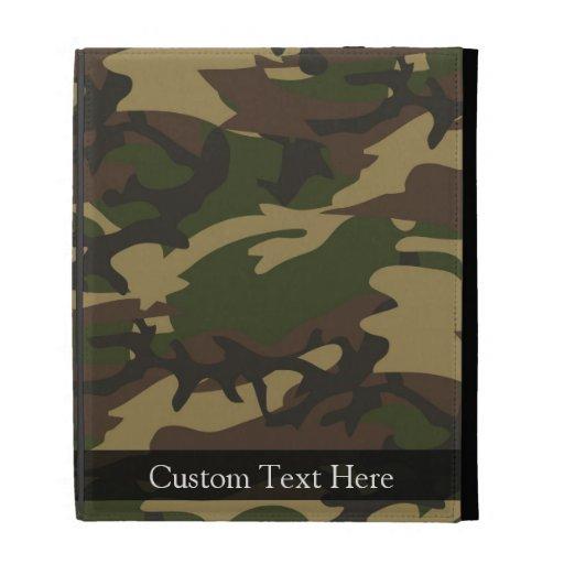 Dusty Green Camo iPad Folio Covers