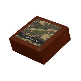 Dusty Green Camo Small Square Gift Box