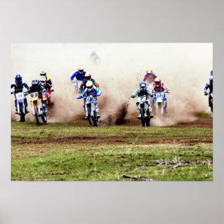 Dusty Motocross Race Poster