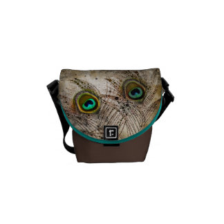 Dusty Peacock Feather Messenger Bag