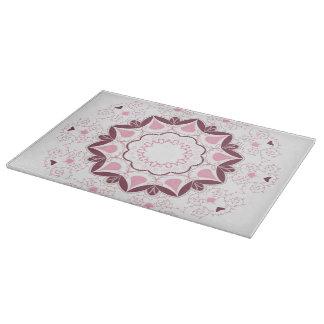 Dusty Pink Mandala Print Customisable Initial Cutting Board