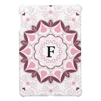 Dusty Pink Mandala Print Customisable Initial iPad Mini Cover