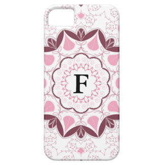 Dusty Pink Mandala Print Customisable Initial iPhone 5 Cover