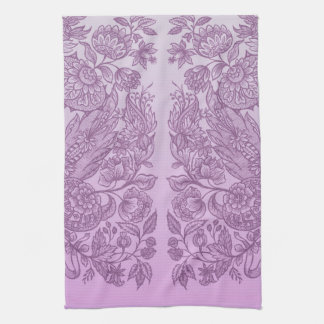 Dusty pink ornament tea towel