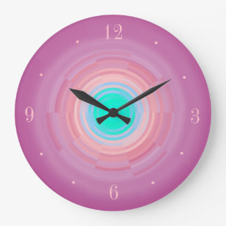 Dusty Pink Swirl/ Aqua Green Centre> Wall Clock