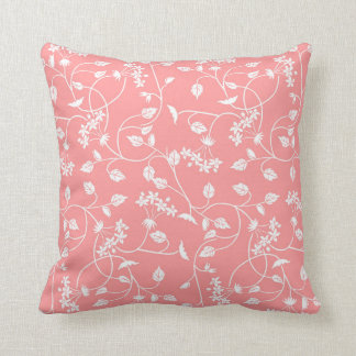 Dusty Pink Vintage Floral Pillow