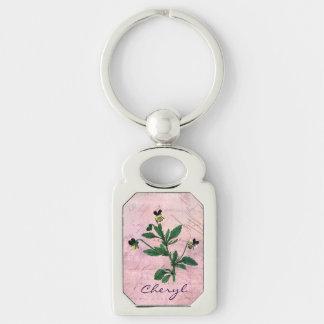 Dusty Pink Vintage Viola Key Ring