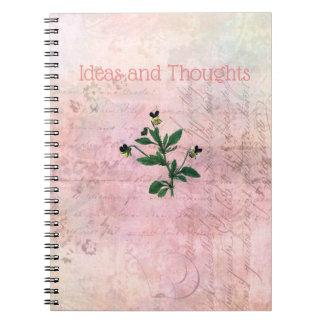 Dusty Pink Vintage Viola Notebook