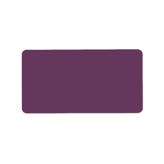 Dusty purple Trend Colour Customised Template Label