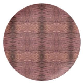 Dusty Rose Burgundy Modern Funky Pattern Party Plate