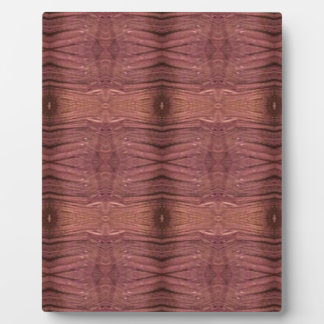Dusty Rose Burgundy Modern Funky Pattern Plaque