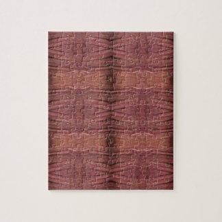 Dusty Rose Burgundy Modern Funky Pattern Puzzles