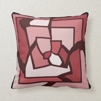 Dusty Rose Labryinth Stained Glass Pillow