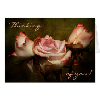 Dusty Rose Thinking of You Greeting Card