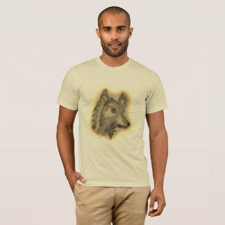 DUSTY WOLF ART PRINT FOE MEN SHIRT
