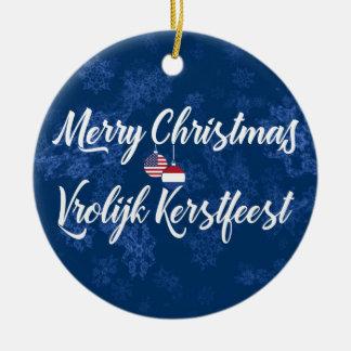 Dutch American Bilingual Holiday Decoration
