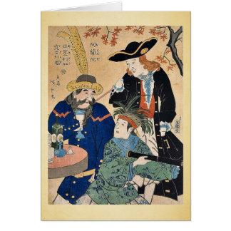 Dutch, American, English by Utagawa, Hiroshige Card