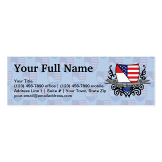 Dutch-American Shield Flag Pack Of Skinny Business Cards