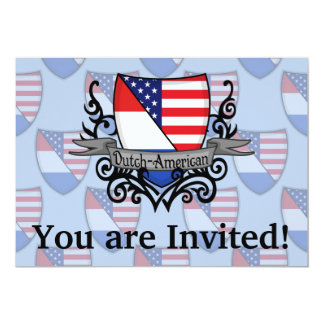 Dutch-American Shield Flag Card