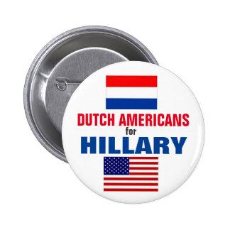 Dutch Americans for Hillary 2016 6 Cm Round Badge