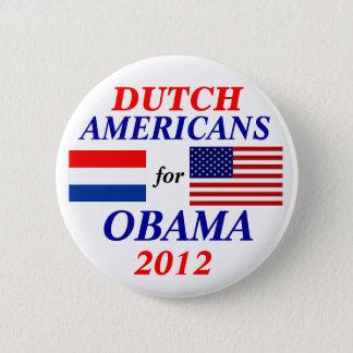 Dutch americans for Obama 6 Cm Round Badge
