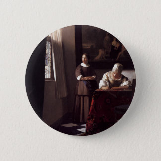 Dutch Artist Vermeer Painting 6 Cm Round Badge