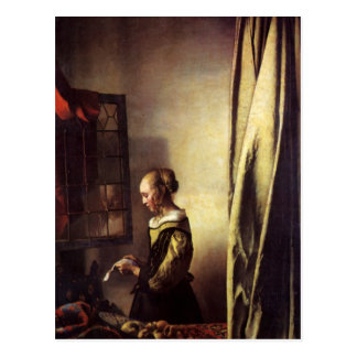 Dutch Artist Vermeer Painting Postcard