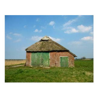 Dutch barn in Friesland, The Netherlands (Holland) Postcard
