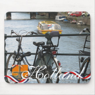 Dutch Bike & Boat Holland Text Mousepad