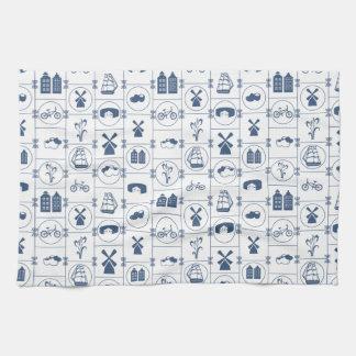 Dutch Blue tiles Tea Towel