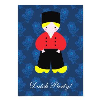 Dutch boy custom invitation