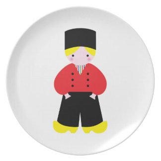 Dutch boy dinner plate