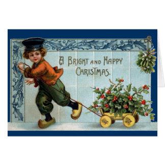 Dutch Boy Vintage Christmas Greeting Card