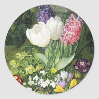 Dutch Bulb Spring Flowers Classic Round Sticker
