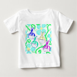 Dutch bunnies in the flowers baby T-Shirt