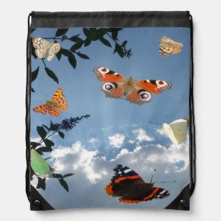 Dutch Butterflies Drawstring Backpack