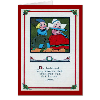Dutch Christmas Greeting 1916 Vintage Card