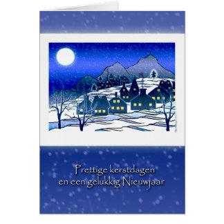 Dutch Christmas, Prettige Kerstdagen, Snow Village Card