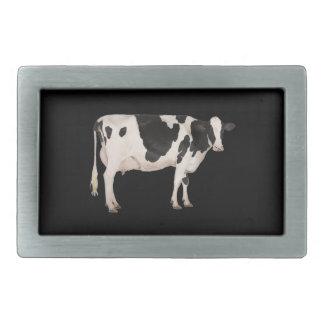 Dutch cow cutout rectangular belt buckles