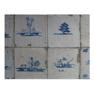 Dutch Delft Blue Tiles PostCard